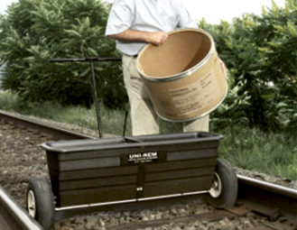 Spreader application for Rail Road Tracks